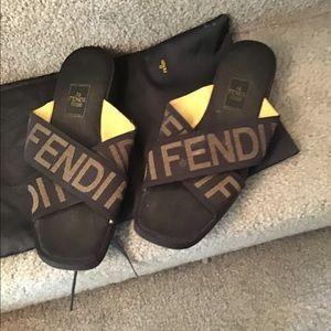 Fendi Shoes - Fend slides
